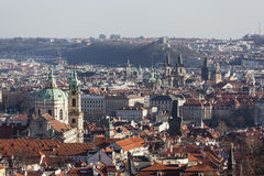 Prague from the observation deck of Strahov Monastery. Czech Republic. Royalty Free Stock Photo