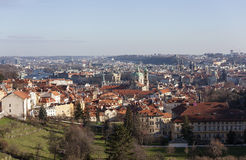 Prague from the observation deck of Strahov Monastery. Czech Republic. Stock Images