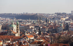 Prague from the observation deck of Strahov Monastery. Czech Republic. Stock Photography