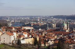 Prague from the observation deck of Strahov Monastery. Czech Republic. Royalty Free Stock Images