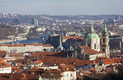 Prague from the observation deck of Strahov Monastery. Czech Republic. Stock Image