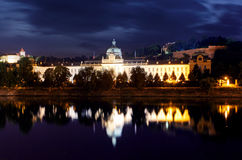 Prague Office of Government above River Vltava.  Stock Photography