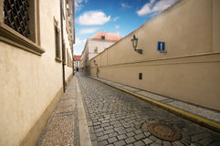 Prague. Old architecture, charming street Royalty Free Stock Photography