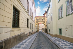 Prague. Old architecture, charming street Stock Photography
