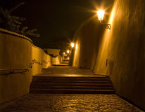 Prague - old castle stairs Royalty Free Stock Image
