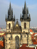 Prague old Church of Our Lady before Tyn. Gothic Church of Our Lady before Tyn in square of Prague, Czech Republic royalty free stock photos