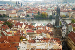 Prague, old city. High angle view of prague, Czech republic Royalty Free Stock Photos