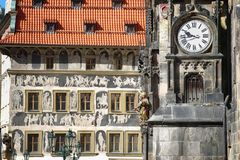 The Prague old City Hall and Astronomical clock Orloj at Old Tow Royalty Free Stock Image