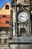 The Prague old City Hall and Astronomical clock Orloj at Old Tow Royalty Free Stock Photos