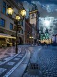 Prague, Old City Hall at night Royalty Free Stock Photos