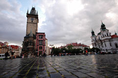 Prague old city square Stock Images