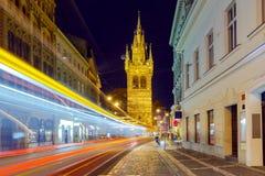 Prague. Old street at night. Royalty Free Stock Photo