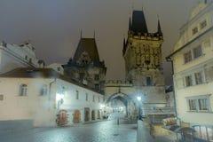 Prague Old town. The old city at night time, Prague, Czech Republic Stock Photos