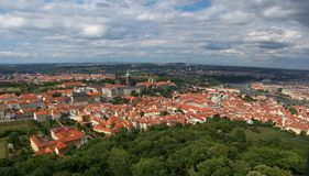 Prague - Old Town. Picture taken from the top of the Petrin observation tower Stock Image