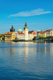 Prague old town across Vlava river Stock Photography