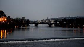 Prague Old Town with bridge stock video