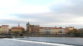 Prague Old Town with bridge stock video footage