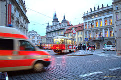 Prague Old Town busy square Royalty Free Stock Photography