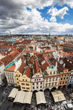 Prague Old Town Centre, shot atop Town Hall, Czech Republic. A photo of Prague`s cityscape, shot from the top of old Prague Town Hall Stock Photo