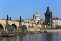 Prague Old Town with Charles Bridge, Czech Republic Stock Image