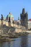 Prague Old Town with Charles Bridge, Czech Republic Stock Photography