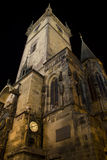 Prague Old Town Hall. Original old town hall in Prague old town square 15th century czech Republic Stock Photos