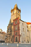 Prague. Old Town Hall at dawn Stock Photography