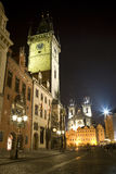 Prague - old town-hall in the night Royalty Free Stock Photo
