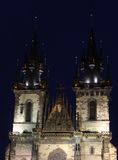 Prague Old Town Hall at Night Stock Images