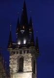 Prague Old Town Hall at Night Stock Photo