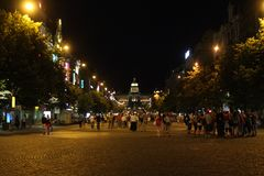 Prague Old Town Hall at Night Royalty Free Stock Photography