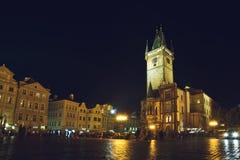 Prague Old Town Hall at Night Royalty Free Stock Image