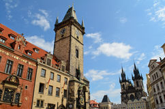 Prague old town hall square Stock Image