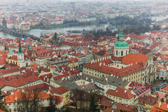 Prague old town landscape with canel Stock Photo
