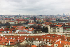 Prague old town landscape winter time Stock Images