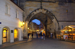 Prague Old Town night streets Royalty Free Stock Image
