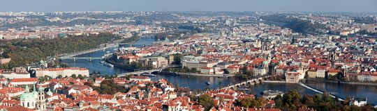 Prague old town panorama Royalty Free Stock Images