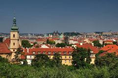 Prague Old Town Panorama Stock Photo