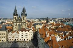 Prague old town square Royalty Free Stock Photo