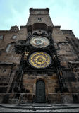 Prague old town square and Astronomical Clock Tower, Prague,. Czech Republic Stock Image