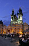 Prague. Old Town Square  and Church of Mother of God before Týn. Old Town Square  and Church of Mother of God before Týn at night. Old Town Square is a Royalty Free Stock Photography