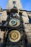Prague Old Town Square Clocks Stock Image