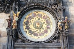 Prague Old Town Square Clocks Royalty Free Stock Photos