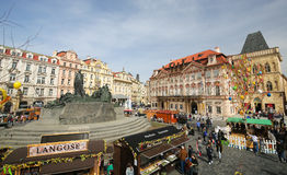 Prague Old Town Square Stock Photo