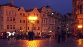 Prague Old Town Square at Night stock video