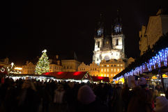 Prague Old Town square people Royalty Free Stock Photo