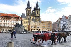 Prague, The Old Town Square (Staromestka Nameste) Stock Photos
