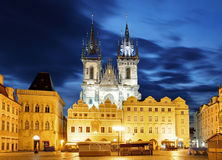 Prague Old town square, Tyn Cathedral Stock Images