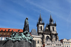 Prague, Old Town Square, Tyn Church Royalty Free Stock Photography