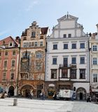 Prague, old town square, tyn church Stock Images